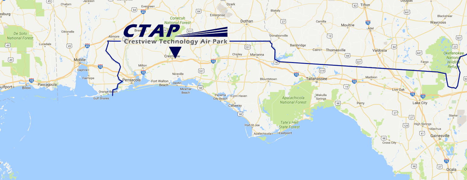 Location of CTAP in NW FL on map drawing